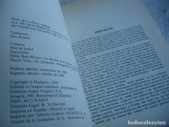 Libros de segunda mano: La vida cotidiana en el Montmartre de Picasso - Foto 2 - 82036808