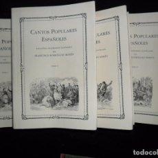 Libros de segunda mano: CANTOS POPULARES ESPAÑOLES, FRANCISCO RODRÍGUEZ MARÍN, EDICIÓN FACSÍMIL, ED. ATLAS, 5 TOMOS. Lote 165041814