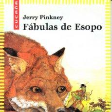 Libros de segunda mano: JERRY PINKNEY. FÁBULAS DE ESOPO. VICENS VIVES, BARCELONA 2003. EJEMPLAR DE MUESTRA.. Lote 82210464