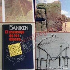 Libros de segunda mano: EL MENSAJE DE LOS DIOSES - LIBRO VON DÄNIKEN -MUY ILUSTRADO - MISTERIO ARQUEOLOGÍA NAZCA ISLA PASCUA. Lote 233066260