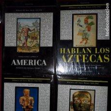 Libros de segunda mano: BIBLIOTECA DEL NUEVO MUNDO, 4 VOLÚMENES, AMÉRICA, EL DORADO, LA EDAD DEL ORO, HABLAN LOS AZTECAS. Lote 82852132