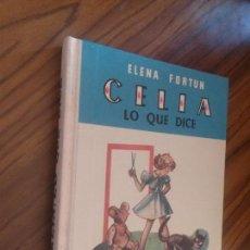 Libros de segunda mano: CELIA LO QUE DICE. ELENA FORTUN. M. AGUILAR. TAPA DURA. BUEN ESTADO. REEDICIÓN. . Lote 83309652