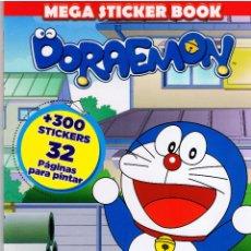 Libros de segunda mano: MEGA STICKER BOOK DORAEMON +300 STICKERS 32 PÁGINAS PARA PINTAR MD472. Lote 83340168
