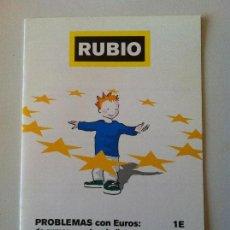 Libros de segunda mano: CUADERNO RUBIO PROBLEMAS CON EUROS RUBIO 1E. Lote 83459464