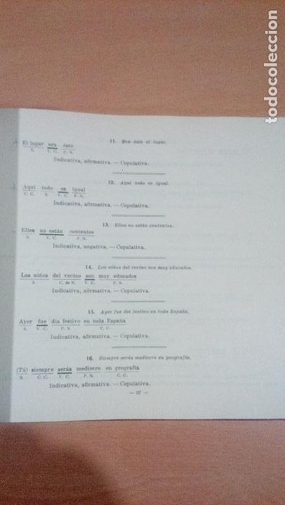 Libros de segunda mano: practicas de analisis gramatical - casellas casademont 1957 gerona - ver fotos - Foto 12 - 83701900