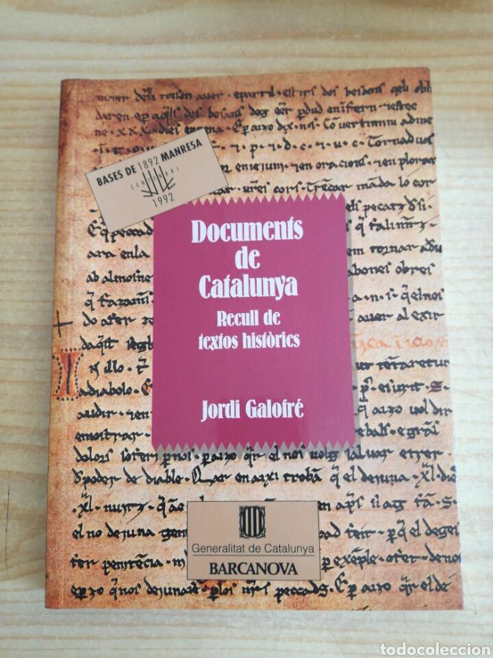 LLIBRE. DOCUMENTS DE CATALUNYA (Libros de Segunda Mano - Historia - Otros)