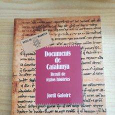 Libros de segunda mano: LLIBRE. DOCUMENTS DE CATALUNYA. Lote 83804232