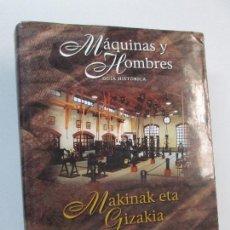 Libros de segunda mano: MAQUINAS Y HOMBRES. GUIA HISTORICA. MAKINAK ETA GIZAKIA. PATXI ALDABALDETRECU. 2000. VER FOTOS. Lote 83909732