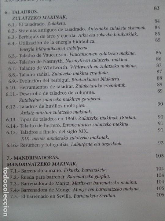 Libros de segunda mano: MAQUINAS Y HOMBRES. GUIA HISTORICA. MAKINAK ETA GIZAKIA. PATXI ALDABALDETRECU. 2000. VER FOTOS - Foto 12 - 83909732