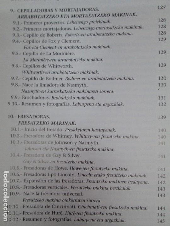 Libros de segunda mano: MAQUINAS Y HOMBRES. GUIA HISTORICA. MAKINAK ETA GIZAKIA. PATXI ALDABALDETRECU. 2000. VER FOTOS - Foto 14 - 83909732