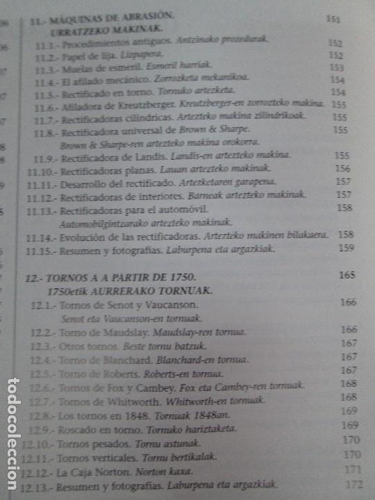 Libros de segunda mano: MAQUINAS Y HOMBRES. GUIA HISTORICA. MAKINAK ETA GIZAKIA. PATXI ALDABALDETRECU. 2000. VER FOTOS - Foto 15 - 83909732