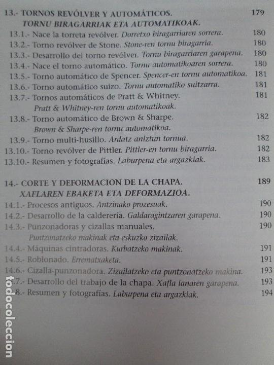 Libros de segunda mano: MAQUINAS Y HOMBRES. GUIA HISTORICA. MAKINAK ETA GIZAKIA. PATXI ALDABALDETRECU. 2000. VER FOTOS - Foto 16 - 83909732