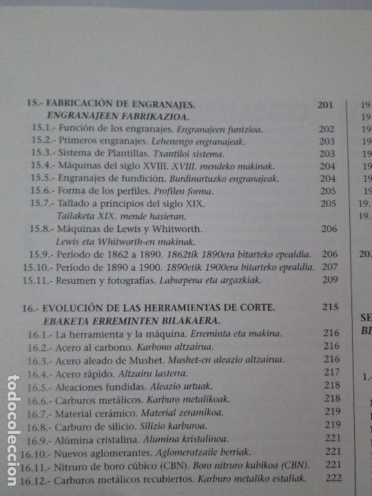 Libros de segunda mano: MAQUINAS Y HOMBRES. GUIA HISTORICA. MAKINAK ETA GIZAKIA. PATXI ALDABALDETRECU. 2000. VER FOTOS - Foto 17 - 83909732