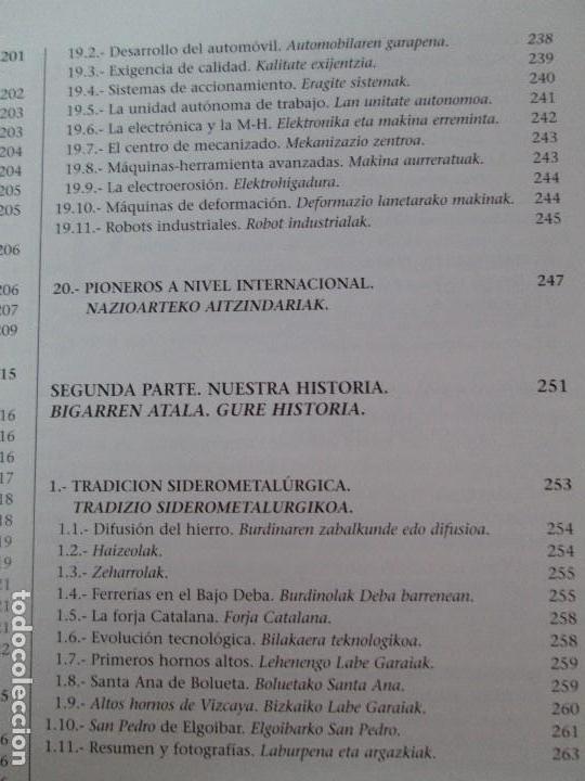 Libros de segunda mano: MAQUINAS Y HOMBRES. GUIA HISTORICA. MAKINAK ETA GIZAKIA. PATXI ALDABALDETRECU. 2000. VER FOTOS - Foto 19 - 83909732