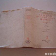 Libros de segunda mano: REPERTORIO DE MEDIEVALISMO HISPÁNICO (1955-1975). TOMO III N-R (3675-4885). RMT80047.. Lote 83939300