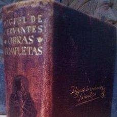 Libros de segunda mano: MIGUEL DE CERVANTES. OBRAS COMPLETAS. AGUILAR. 1946. Lote 83956120