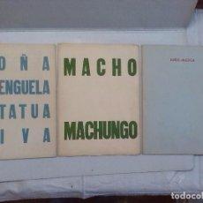 Libros de segunda mano: GREGORIO PRIETO: MACHO MACHUNGO, NIÑO-MOSCA Y DOÑA BERENGUELA ESTATUA VIVA, TODOS DE 1951. Lote 83998384