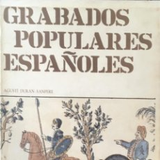 Libros de segunda mano: GRABADOS POPULARES ESPAÑOLES. Lote 84011360