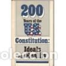 Libros de segunda mano: 200 AÑOS DE LA CONSTITUCION DE EE.UU. IDEALES Y REALIDADES. KONTANTIN NIKOLAIEV. Lote 84251720
