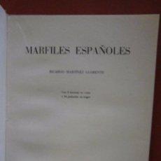 Libros de segunda mano: MARFILES ESPAÑOLES. RICARDO MARTINEZ LLORENTE. Lote 84329564