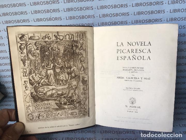 Libros de segunda mano: LA NOVELA PICARESCA ESPAÑOLA - AGUILAR - OBRAS ETERNAS. - Foto 4 - 84658752