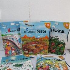 Libros de segunda mano: LIBROS PARA JUGAR. VIVE UNA AVENTURA. SEIS LIBROS POP-UP. EDICION SANTILLANA VER FOTOGRAFIAS. Lote 84743736