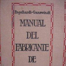 Livres d'occasion: MANUAL FABRICANTE DE BUJIAS ENGELHARAT 1924.8ª.ILUSTRADO VELAS. Lote 85029092