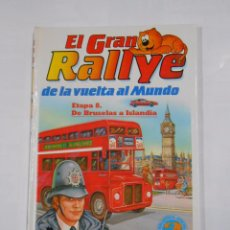 Libros de segunda mano: EL GRAN RALLYE DE LA VUELTA AL MUNDO. ETAPA 8 DE BRUSELAS A ISLANDIA. GATO ISIDORO. TDK81. Lote 85035484