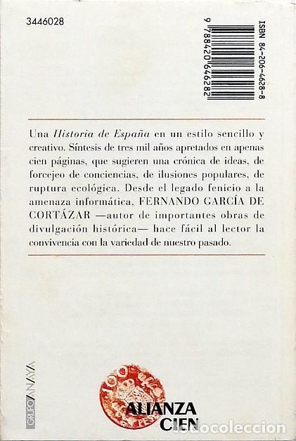 Libros de segunda mano: Historia de España Alianza cien - Fernando García de Cortázar - Foto 2 - 91715358