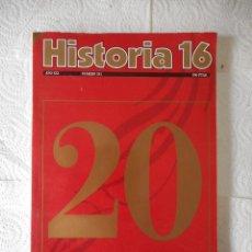 Libros de segunda mano: HISTORIA 16. ESPECIAL 20 AÑOS. 258 PÁGINAS. 1996. NUEVO, SIN USO. Lote 85160736
