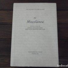 Libros de segunda mano: MISCELÁNEA IV. Lote 85198316