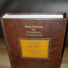 Libros de segunda mano: LA DECADENCIA DE OCCIDENTE, VOL. I. OSWALD SPENGLER.. Lote 85688479