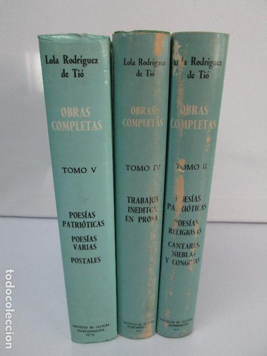 Libros de segunda mano: LOLA RODRIGUEZ DE TIO. OBRAS COMPLETAS. TOMO II-IV Y V. VER FOTOGRAFIAS ADJUNTAS - Foto 2 - 85784908