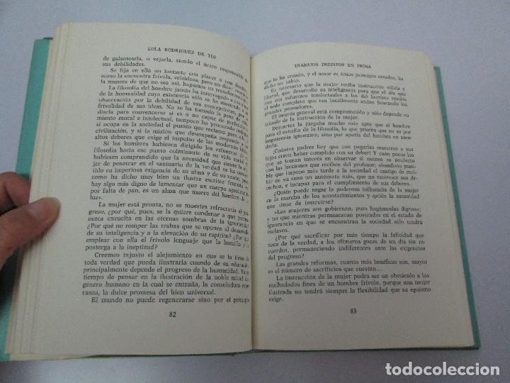 Libros de segunda mano: LOLA RODRIGUEZ DE TIO. OBRAS COMPLETAS. TOMO II-IV Y V. VER FOTOGRAFIAS ADJUNTAS - Foto 22 - 85784908