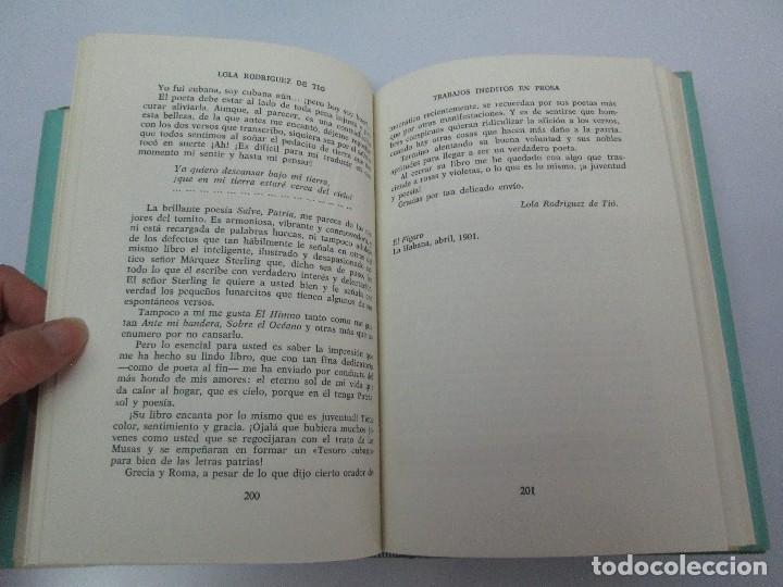 Libros de segunda mano: LOLA RODRIGUEZ DE TIO. OBRAS COMPLETAS. TOMO II-IV Y V. VER FOTOGRAFIAS ADJUNTAS - Foto 24 - 85784908