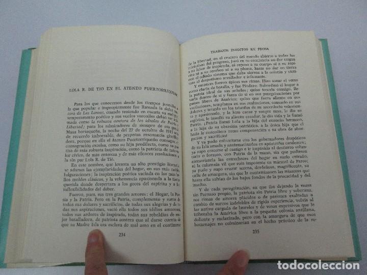 Libros de segunda mano: LOLA RODRIGUEZ DE TIO. OBRAS COMPLETAS. TOMO II-IV Y V. VER FOTOGRAFIAS ADJUNTAS - Foto 25 - 85784908