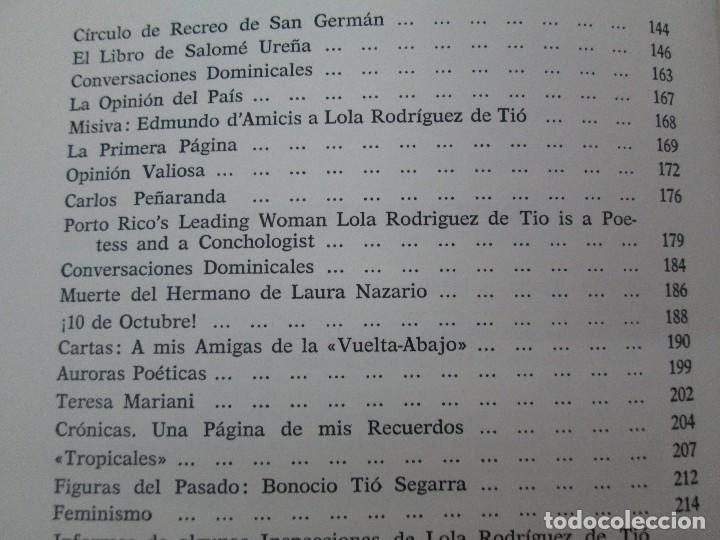 Libros de segunda mano: LOLA RODRIGUEZ DE TIO. OBRAS COMPLETAS. TOMO II-IV Y V. VER FOTOGRAFIAS ADJUNTAS - Foto 28 - 85784908