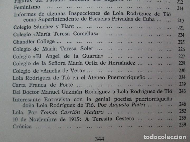Libros de segunda mano: LOLA RODRIGUEZ DE TIO. OBRAS COMPLETAS. TOMO II-IV Y V. VER FOTOGRAFIAS ADJUNTAS - Foto 29 - 85784908