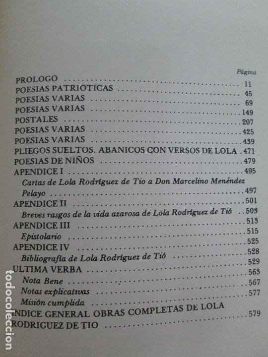 Libros de segunda mano: LOLA RODRIGUEZ DE TIO. OBRAS COMPLETAS. TOMO II-IV Y V. VER FOTOGRAFIAS ADJUNTAS - Foto 36 - 85784908