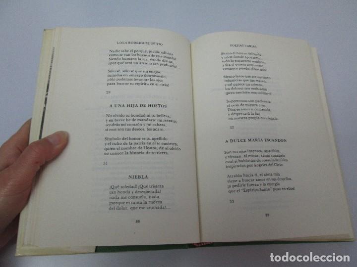 Libros de segunda mano: LOLA RODRIGUEZ DE TIO. OBRAS COMPLETAS. TOMO II-IV Y V. VER FOTOGRAFIAS ADJUNTAS - Foto 43 - 85784908