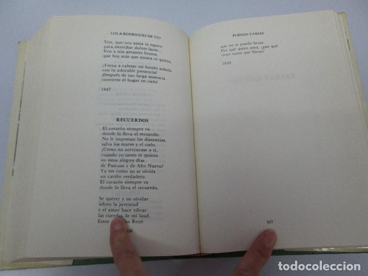 Libros de segunda mano: LOLA RODRIGUEZ DE TIO. OBRAS COMPLETAS. TOMO II-IV Y V. VER FOTOGRAFIAS ADJUNTAS - Foto 50 - 85784908