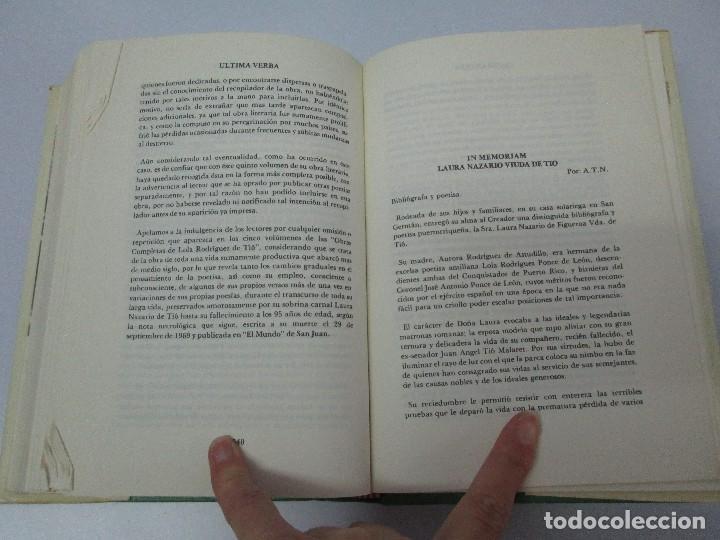 Libros de segunda mano: LOLA RODRIGUEZ DE TIO. OBRAS COMPLETAS. TOMO II-IV Y V. VER FOTOGRAFIAS ADJUNTAS - Foto 60 - 85784908