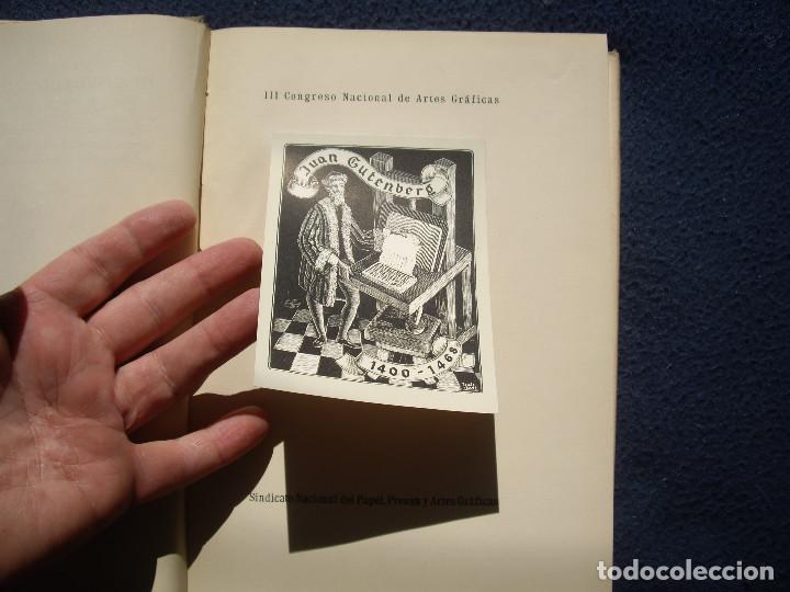 Libros de segunda mano: III CONGRESO NACIONAL DE ARTES GRAFICAS. BARCELONA 1950 - Foto 7 - 85893564