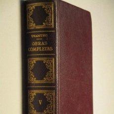 Libros de segunda mano: UNAMUNO, OBRAS COMPLETAS (V : DE ESTO Y AQUELLO) · AFRODISIO AGUADO, 1958. Lote 85927752