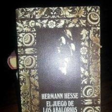 Libros de segunda mano: LIBRO Nº 862 EL JUEGO DE LOS ABALORIOS HERMANN HESSE. Lote 86011408