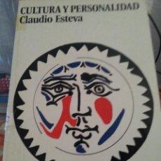 Libros de segunda mano: LIBRO Nº 795 CULTURA Y PERSONALIDAD CLAUDIO ESTEVA. Lote 86228292