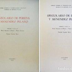 Libros de segunda mano: PEREDA, JOSÉ MARÍA Y MENENDEZ PELAYO, MARCELINO. EPISTOLARIO DE PEREDA Y MENÉNDEZ PELAYO. 1953.. Lote 86269656