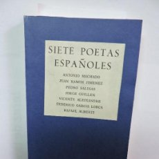 Livros em segunda mão: SIETE POETAS ESPAÑOLES. MADRID 1973. Lote 86348804