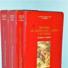Libros de segunda mano: HISTORIA DE MEDINA DEL CAMPO Y SU TIERRA. ( 3 VOLÚMENES). Lote 86403592