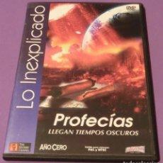 Libros de segunda mano: DVD - PROFECÍAS.LLEGAN TIEMPOS OSCUROS - COLEC. LO INEXPLICADO Nº4 - CANAL HISTORY - AÑO CERO. Lote 86670732